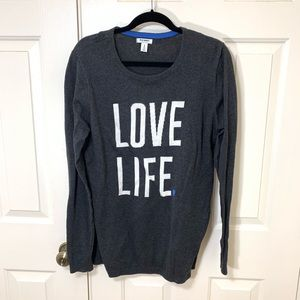 SIZE XL TALL OLD NAVY LOVE LIFE SWEATER
